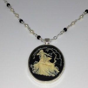 Diana The Huntress Cameo Pendant Necklace